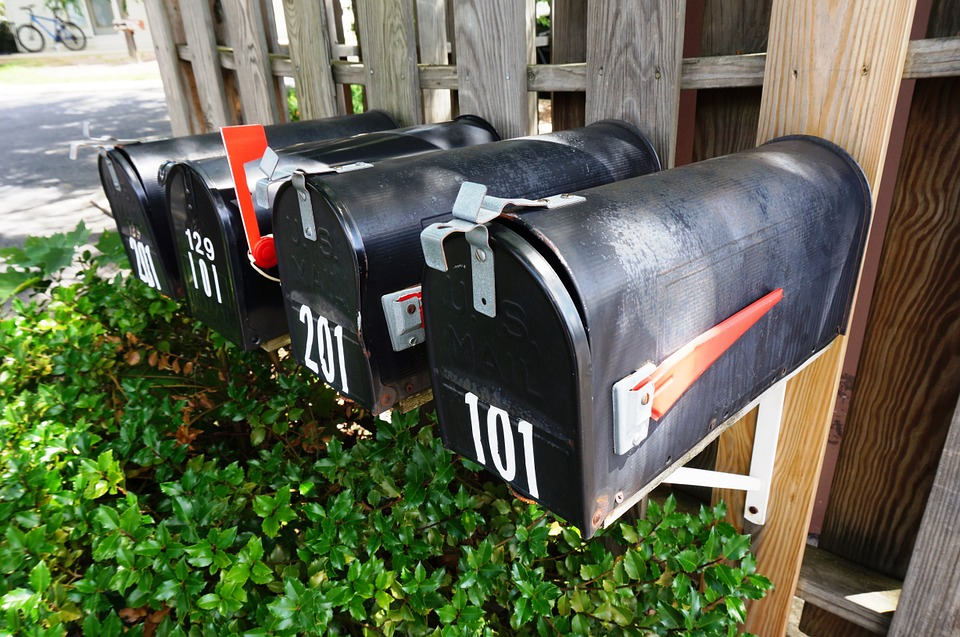 Flag Mail Letterbox Post Mailbox Postal Outdoor